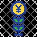 Plant Grow Yen Plant Icon