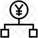 Yen Hierarchy Structure Connection Icon