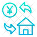 Yen Home Cost Icon