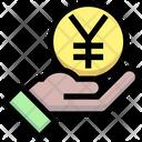 Yen Pay Coin Give Icon