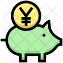 Business Financial Piggy Bank Icon