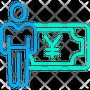Yen Salary Earning Icon