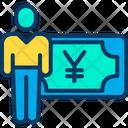 Yen Earning Cash Icon