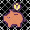 Mpiggy Bank Yen Yen Savings Savings Icon