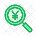 Magnifier Glass Yen Find Icon