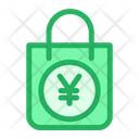 Shopping Bag Yen Sign Hand Bag Icon