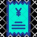 Yen Statement Icon