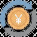 Yen Refresh Money Transfer Yen With Processing Icon