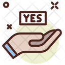 Yes Yes Vote Vote Icon