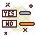 Yes No Poll Yes No Icon