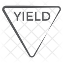 Yield Triangle Alert Icon
