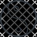Yin Yang Taoism Icon