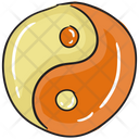 Yin And Yung Dualism Chinese Philosophy Icon