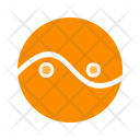 Circle Two Parts Icon