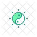 Yin Yang Chinese Philosophy Icon
