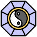 Yin Yang Religion Cultures Icon