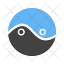 Yin Yang Circle Icon