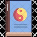 Yin Yang Book Philosophy Book Harmony Icon