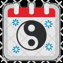 Yin Yang Calendar Icon