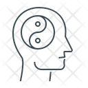Yin Yang Mental Health Mental Wellbeing Icon
