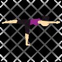 Yoga Worrior Pose Icon
