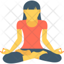 Yoga Acrobatic Exercising Icon