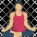 Yoga Fitness Exercising Icon