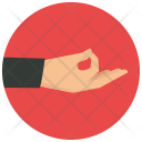 Mudra Hand Movement Icon