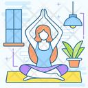 Yoga Meditation Physical Exercise Icon