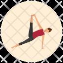 Side Plank Leg Icon