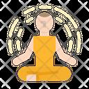 Meditation Relaxing Yoga Icon