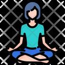 Yoga Meditation Healthy Icon