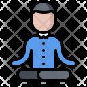 Tranquility Yoga Lotus Icon