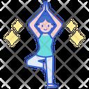Yoga Asana Fitness Icon