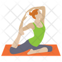 Yoga Aerobics Stretch Muscle Icon