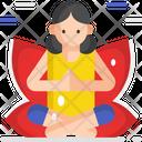 Yoga Yoga Breathing Excercise Icon