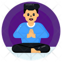 Meditation Yoga Meditative Practice Icon