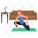 Yoga Exercise Fitness Tricks Body Exercise Icon