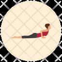 Cobra Yoga Pose Icon