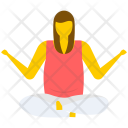 Yoga Relaxing Seated Icon