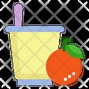 Yogurt Orange Probiotic Icon