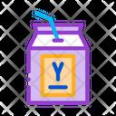 Drinking Packaged Yogurt Icon