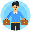 Employer Employee Young Businessman Icon