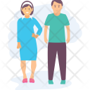 Young Couple Together Icon