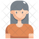 Woman User Avatar Icon