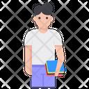 Student Undergraduate Schoolboy Icon