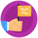 Handheld Flag Youth Day Flag Banner Icon