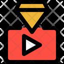Youtube Diamond View Premium Video Views Icon
