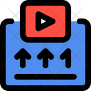 Youtube Upload Collection Video Statistic Accelerate Icon