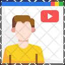 Youtuber Vlog Vlogger Icon